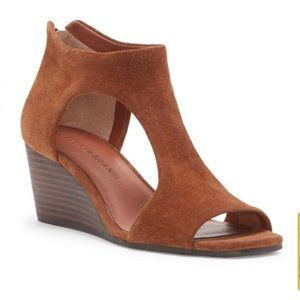 Lucky brand leather wedge